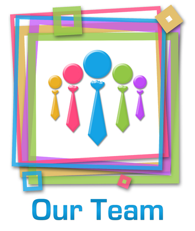 our: Our Team Group Colorful Frame Stock Photo