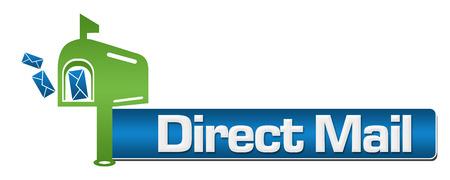 direct mail: Direct Mail Green Blue Symbol Stripe