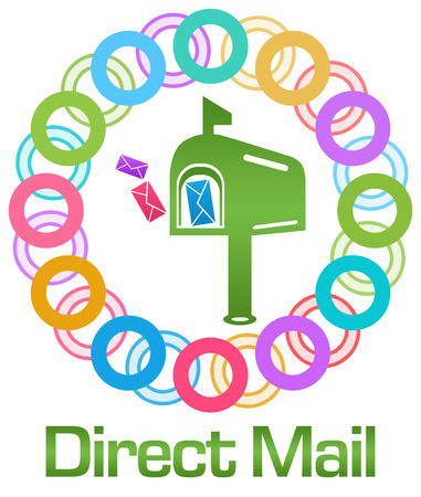 direct mail: Direct Mail Colorful Rings Circular