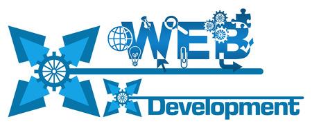 web development: Web Development Abstract Floral Blue