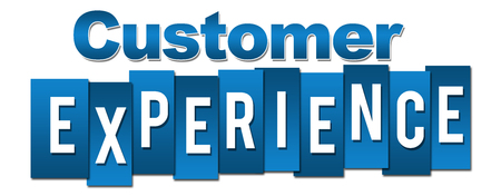 Customer Experience Profession Blue Stripes Banco de Imagens