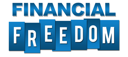 blue stripes: Financial Freedom Professional Blue Stripes Stock Photo