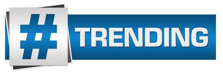 trending: Trending Blue Grey Horizontal Stock Photo