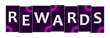 Rewards Purple Pink Rings Horizontal Reklamní fotografie