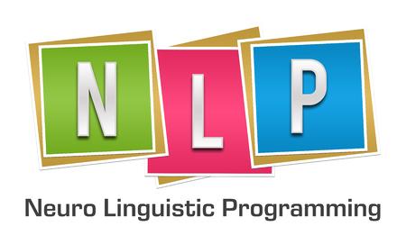 NLP Blocks Colorful Banque d'images - 58825005