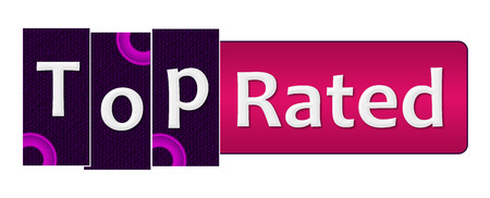 rated: Top Rated Purple Pink Rings Bar Stock Photo