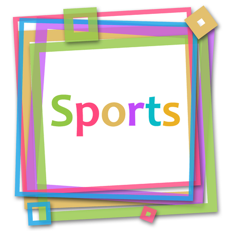 colorful frame: Sports Colorful Frame