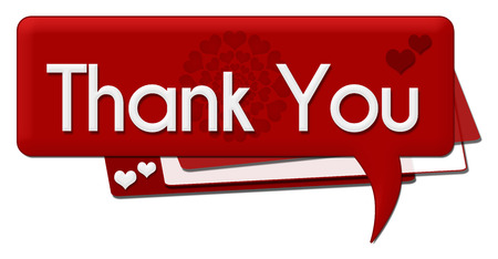 romantic: Thank You Romantic Comment Symbol Stock Photo