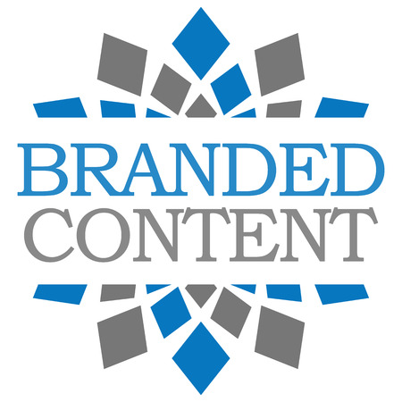BRANDED: Branded Content Blue Grey Squares Stock Photo