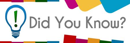 Le saviez-vous Résumé Formes colorées Banque d'images - 59760616