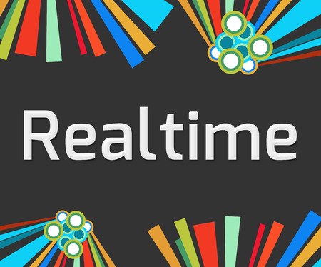 realtime: Realtime Dark Colorful Elements Stock Photo