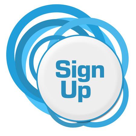signup: Sign Up Random Blue Rings