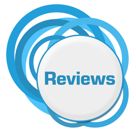 reviews: Reviews Random Blue Rings Stock Photo