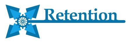 retention: Retention Blue Key Flower Horizontal