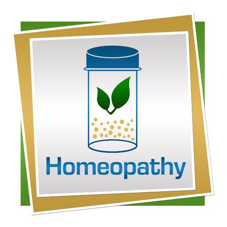 homeopatia: Cuadrados de la homeopat�a Verde Azul Marr�n