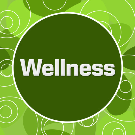 mind body soul: Wellness Random Green Rings Circle