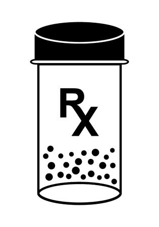 rx: Medicine Bottle With Pills RX