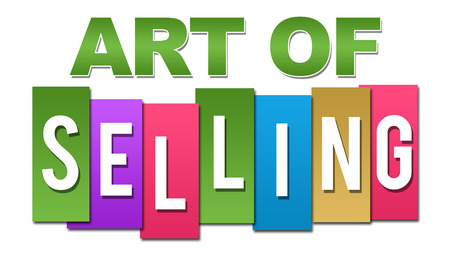 soft sell: Art Of Selling Professional Colorful Stock Photo