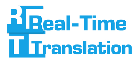 realtime: Real-Time Translation Abstract Blue Stripes