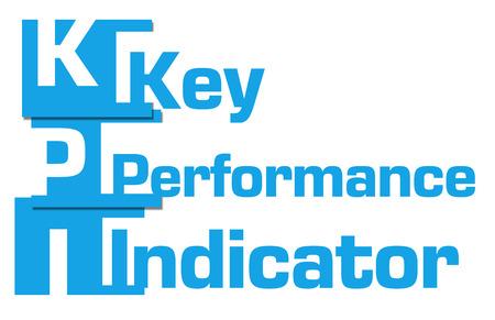 kpi: KPI - Key Performance Indicator Abstract Blue Stripes Stock Photo