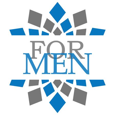 gent's: For Men Blue Grey Squares Background