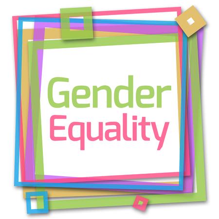 sex discrimination: Gender Equality Colorful Frame Stock Photo