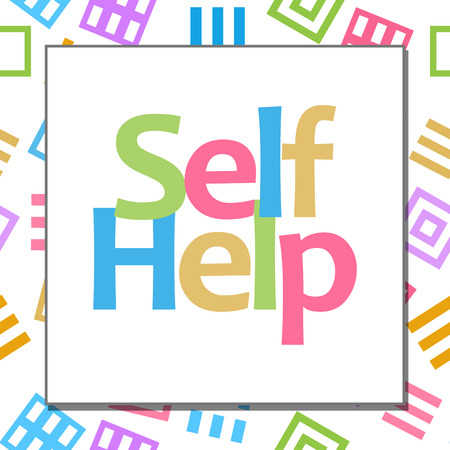 self help: Self Help Colorful Abstract Background
