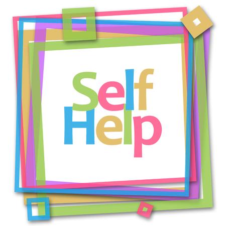 self realization: Self Help Colorful Frame