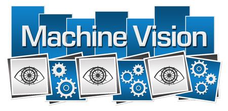 sprockets: Machine Vision Blue Grey Squares Gears Eye