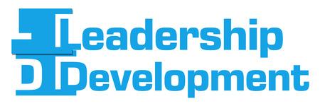 leadership development: Leadership Development Abstract Blue Stripes