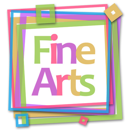 fine arts: Fine Arts Colorful Frame