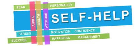 self realization: Self Help Wordcloud Colorful Stripes