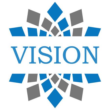 long term goal: Vision Blue Grey Square Circular
