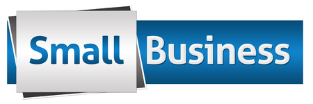 blue grey: Small Business Blue Grey Horizontal