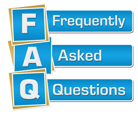 questions: FAQ - Frequently Asked Questions Blue Squares Vertical Stock Photo