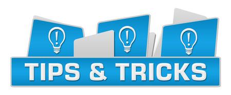 Trucs et astuces Ampoules On Top Bleu Banque d'images - 59761039