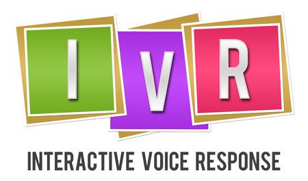 IVR - Interactive Voice Response Colorful Blocks