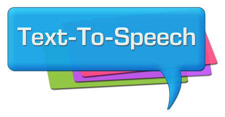 phonetic: TTS - Text-To-Speech Colorful Comment Symbols Stock Photo