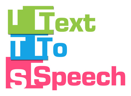 phonetic: TTS - Text To Speech Abstract Colorful Stripes