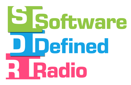 SDR - ソフトウェア定義されたラジオ抽象的なカラフルなストライプ 写真素材