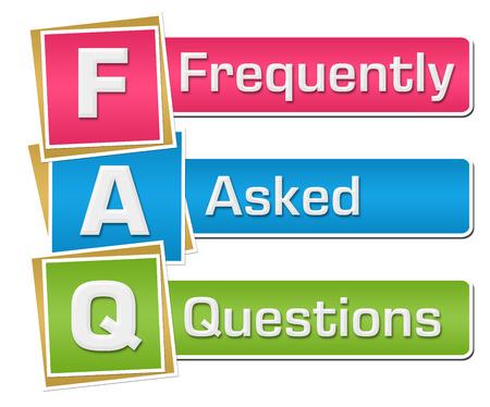 FAQ - Frequently Asked Questions Colorful Vertical Stock Photo