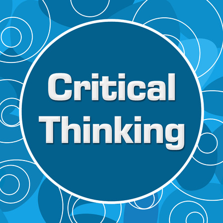 critical: Critical Thinking Blue Abstract Circular Background
