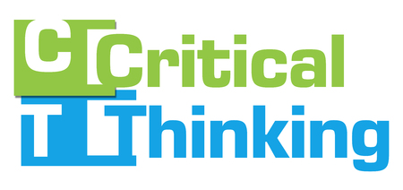critical thinking: Critical Thinking Green Blue Abstract Stripes