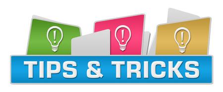 Trucs et astuces Bulbes sur le dessus Coloré Banque d'images - 59761162