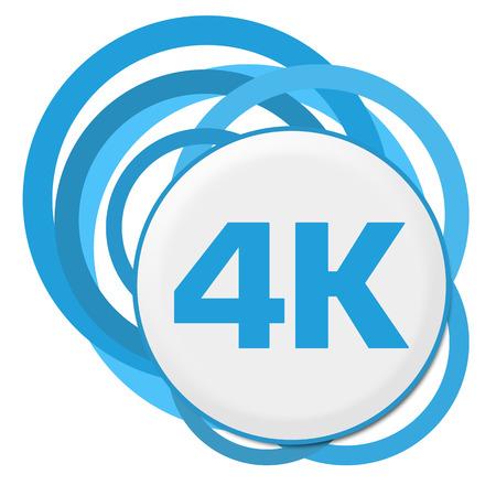 high def: 4K Blue Random Rings