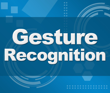 perceptual: Gesture Recognition Technical Blue Background Square