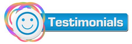 Testimonials Random Colorful Rings Horizontal Stock Photo