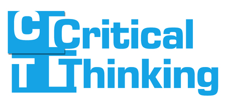 critical: Critical Thinking Blue Abstract Stripes Stock Photo