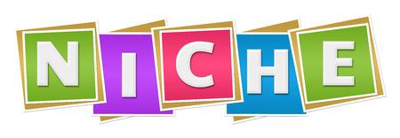 niche: Niche Colorful Blocks Stock Photo