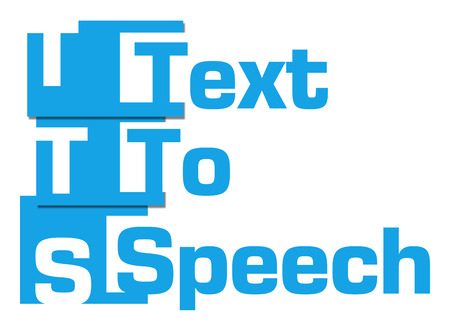 phonetic: TTS - Text To Speech Blue Abstract Stripes Stock Photo